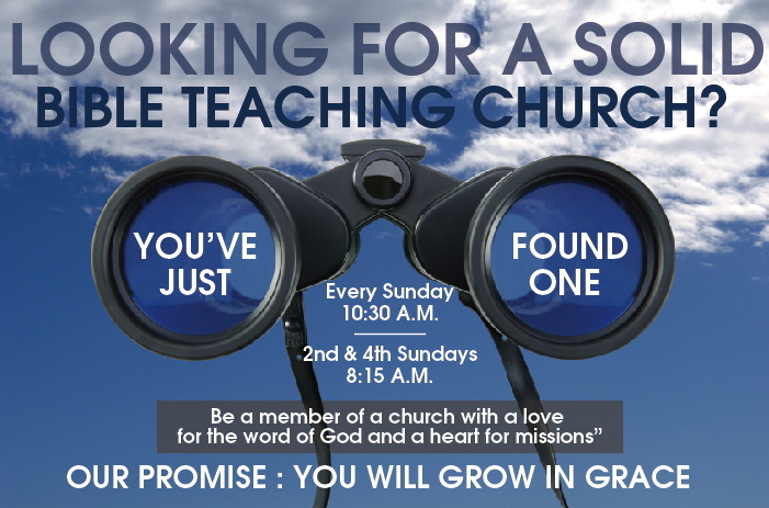 Looking For A Bible Teaching Church?